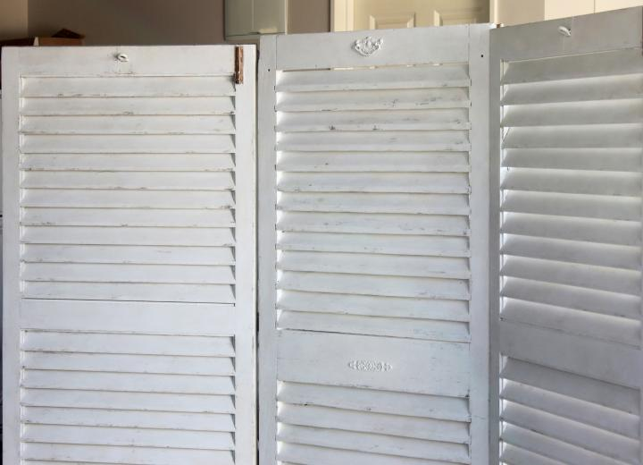 Wooden Shutter Doors - White