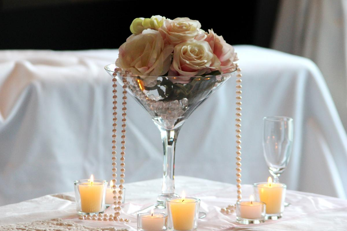 Silk Flower PACKAGE with extra tealights